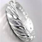 CLASSIC Brighton Bay Twisting Silver Cable Hinged Bangle Bracelet