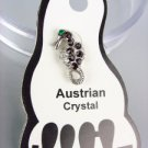 ADORABLE Dark Garnet Red Austrian Crystal SEA HORSE Invisible PETITE Toe Ring