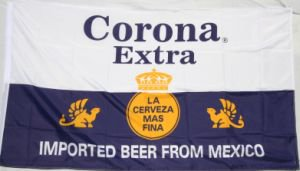 CORONA EXTRA Beer FLAG, 3'x5' cloth poster banner FLAG