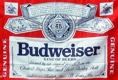 BUDWEISER Beer FLAG, 3'x5' cloth poster banner FLAG