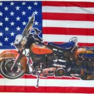 Harley Dresser 64 Motorcycle FLAG, 3'x5' cloth poster banner FLAG