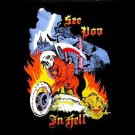 SEE YOU IN HELL Motorcycle FLAG, 3'x5' cloth poster banner FLAG