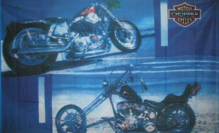 Harley Chopper Motorcycle FLAG, 3'x5' cloth poster banner FLAG