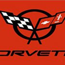 RED CORVETTE FLAG, 3'x5' Flag banner cloth poster FLAG