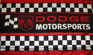 DODGE MOTORSPORTS FLAG, 3'x5' Flag banner cloth poster FLAG