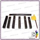 Brand New Indexable Carbide Lathe Tools Set Sizes 10mm Tin Coated (7 Pcs)
