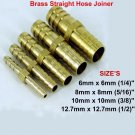 Brass Straight Hose Joiner Barbed Connector Air Fuel Water Pipe Gas Tubing