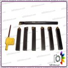 7pc Of Indexable Carbide Lathe Tools 8mm Set (includes A Boring Bar) Tin Coated