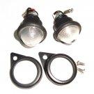 Hi Quality Royal Enfield 6V Frosted Pilot Lamps Assembly + Black Rims #140984