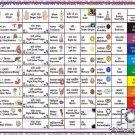 10 Origin Ayurvedic Diagnostic Table Acupressure Chart for Teaching Educational