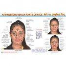 New Face Reflexology Byol Meridian Chart - for Academics Teaching Educational