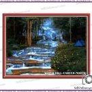 New Beautiful Waterfall Feng Shui Poster  For Money & Abundance Gentle