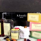 Khadi Complete Bathing Kit - Includes Face Pack-Soap-Shampoo-Almond Oil