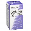 Health Aid Cod Liver Oil For Stress and Anxiety - 90 Capsules 550 mg