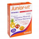 Healthaid Junior-Vit Chewable 30 Tablets - One-A-Day - Balanced Vits - Minerals