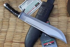 "16"" Hand Forged Full Tang Blade Bowie Knife, EGKH Nepal Kukri Machete Knives"