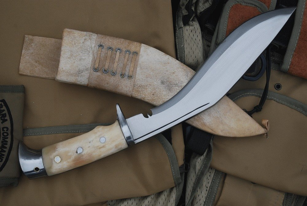 "10"" American Eagle Kukri, Hand Forged Blade Bone Handle Khukuri, Nepalese Knife"