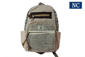 Pure Hemp Multi Pocket Backpack with Laptop Sleeve - Fashion Cute Travel Bag