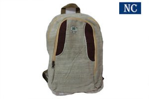 100% Hemp Backpack with Laptop Sleeve - Fashion Cute Travel School College Bag
