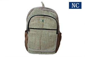 Himalayan Pure Hemp Multi Pocket Backpack with Laptop Sleeve,Shoulder Bag / Book
