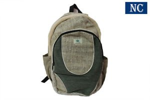 Natural Hemp Canvas Backpack with Laptop Sleeve - Fashion Cute Travel School Bag