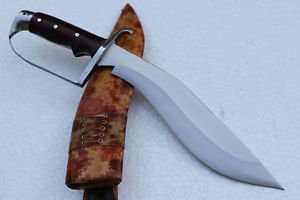 "Genuine 12"" Evil Eagle Handle Kukri - EGKH Hand Forge Blade Khukuri Knife, Nepal"