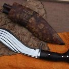 5 Fullers kukri, Hand Forged Full Tang Farmer Blade, EGKH Nepal Khukuri Knife
