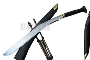 "37"" Buff Head Khukuri, Hand Forged Blade Sacrificial Large Kukri, EGKH Knife"