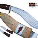 """Gurkha Full Tang Khukri Knife - 14"""" Blade 5 Fuller Kukri - Handmade By Ex Gurkha"""