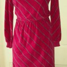 Vintage 70's Dress Division WhateverWear brand Terrycloth Velour Dress Womens 8
