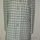 Vintage Bromleigh New York Houndstooth Wool Over Dress Top 3/4 Coat Womens S/M