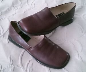 DIBA USA BALLY Brown leather mules Women's size 6 shoes Made in Brazil