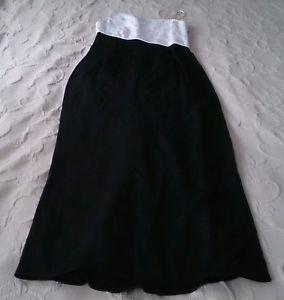 Scott McClintock off shoulder sleeveless w/train Formal white/black Dress 10 USA