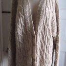 Vintage Liz Claiborne Oversized Boyfriend Cable Knit Cardigan Sweater Womens L