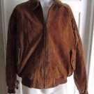 Orvis Leather Suede Harrington Plaid Lined A-2 Flight Bomber Jacket Mens Large L