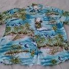 NWT Mens shirt Omni II 2 limited Brand Hawaiian island water casual size M Aloha