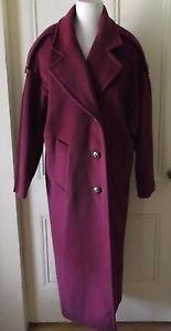 Womens Vintage 80s 7th Avenue Ivana Inc Worumbo Forstmann Top Dress Coat L USA