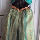 NWT Disney Store Frozen Fever Deluxe Anna Coronation Dress Costume Cosplay NEW