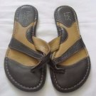 Womens Sandals Shoes BOC Born Size 7 Eur 38 Brown Leather Thongs Flip-flops Nice