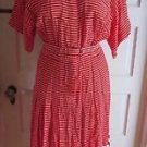 Vintage Liz Claiborne Dresses Womens 4 Mid Century Mod Striped Rayon Shirt Dress