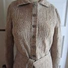 Vintage Apollo NY Mottled Knit Collared Belted Sash Shirt Sweater Dress Womens M