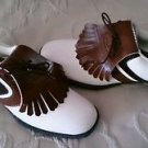 NEW Lady Lee Trevino Live In Dry Golf Shoes Cleats womens size 8 USA brown/white