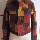 Wilsons Maxima Leather Denim Patchwork Jean Jacket Hippie Boho Festival Womens S