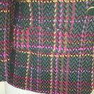 Pendleton 100% Virgin Wool blazer Jacket size S/M green/pink plaid yellow label