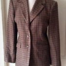 Limited America 100% wool Checkered blazer Jacket womens size 10