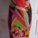Womens Sue Wong Nocturne Patchwork 100% Silk Beaded Maxi Slinky Sexy Dress 8