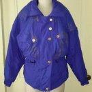 Vintage Black Bear Gold Foil Stamped Puffer Jacket Ski Snowboard Parka Womens 8
