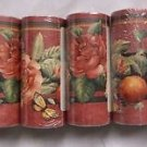 Lot of 6 Sunworthy Floral & Fruit Trail Prepasted Wallpaper Border KC063245B New