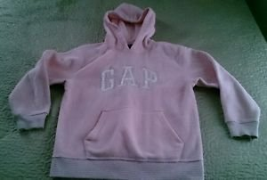The Gap Kids logo hoodie sweatshirt girls size L 10 pink silver