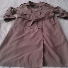Vintage Classic Double Breasted Totes brand Trench Lined Womens Size 10 brown